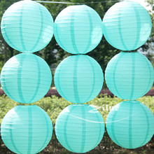 10pcs/lot  Tiffany blue color Chinese Paper Festival lantern Spring Wedding home decoration Child party wedding suppliers