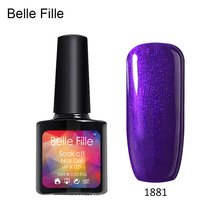 10ml Bling UV Nail Gel Polish Candy Colors Varnish Nail Gel Coat LED Gel Lacquer permanent polish soak of gel for bridal makeup(China)