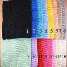 10pcs 12 inch crochet tube top tutu top chest wrap wide headband black white ivory gray green red pink blue peach yellow etc.