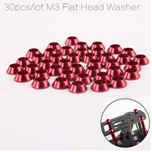 30pcs Aluminium Alloy Flat Head Countersunk Head Umbrella Head Screw Bolt Washer for FPV RC Race Drone QAV250 ZMR180(China)