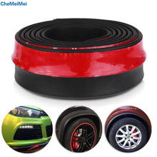 CheMeiMei Universal 2.5M Car Protector Front Bumper Lip Splitter Body Kit Bumpers Anti-collision tape Accessiories Free Shipping(China)