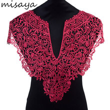 Misaya 1pc Polyester Flower 4 Colors Lace Neckline Fabric,Wedding Dress Collar Lace For Sewing Supplies Crafts(China)