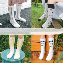 Kids Knee High Socks Girls Boys Football Strips Cotton Old School White Sport Socks Soccer Boots Children Baby Long Leg Warmer