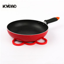 MOM'S HAND 9 Rings Design Silicone Table Mat Non-slip Heat Resistant Mat Cup Coaster Pad Pot Holder()