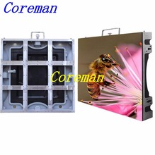 Coreman hd Indoor Outdoor Led Display Screen/ P6 Advertising Led Tv led Billboard Led Video Wall cabinet 576X576 p2.5 p3 p4 p5