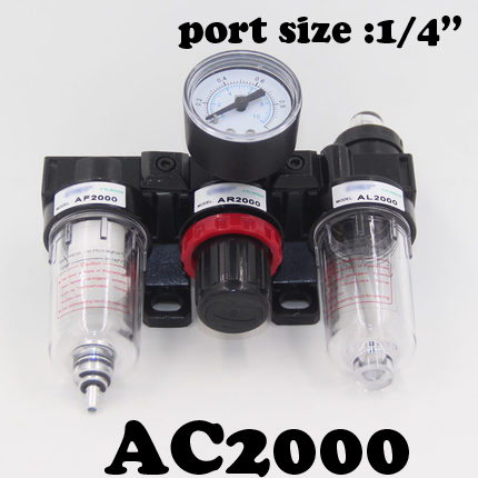 AC2000 Air source triplet Free shipping Pneumatic Parts Air Source treatment unit pressure regulator Oil/water separation <br><br>Aliexpress