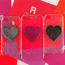 Shining Case For iPhone 6s case iphone 8 8plus 7 7plus 6 6plus 6s plus Coque 3D Heart Soft Silicon Back cover With Dust Plus Bag