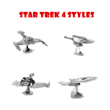 3D Metal Puzzles Star Trek  USS Enterprise 4model can choose Metal model  styles Chinses Metal Earth DIY Creative gifts Lct_006
