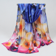 2017 new fashion style Scarves women's scarf long Polyester shawl spring cape silk chiffon tippet muffler free shipping FZ001(China)