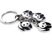Panda Charms Keychain For Keys Car Key Ring Souvenir Gifts Couple Handbag Jewelry Accessories Christmas Gif