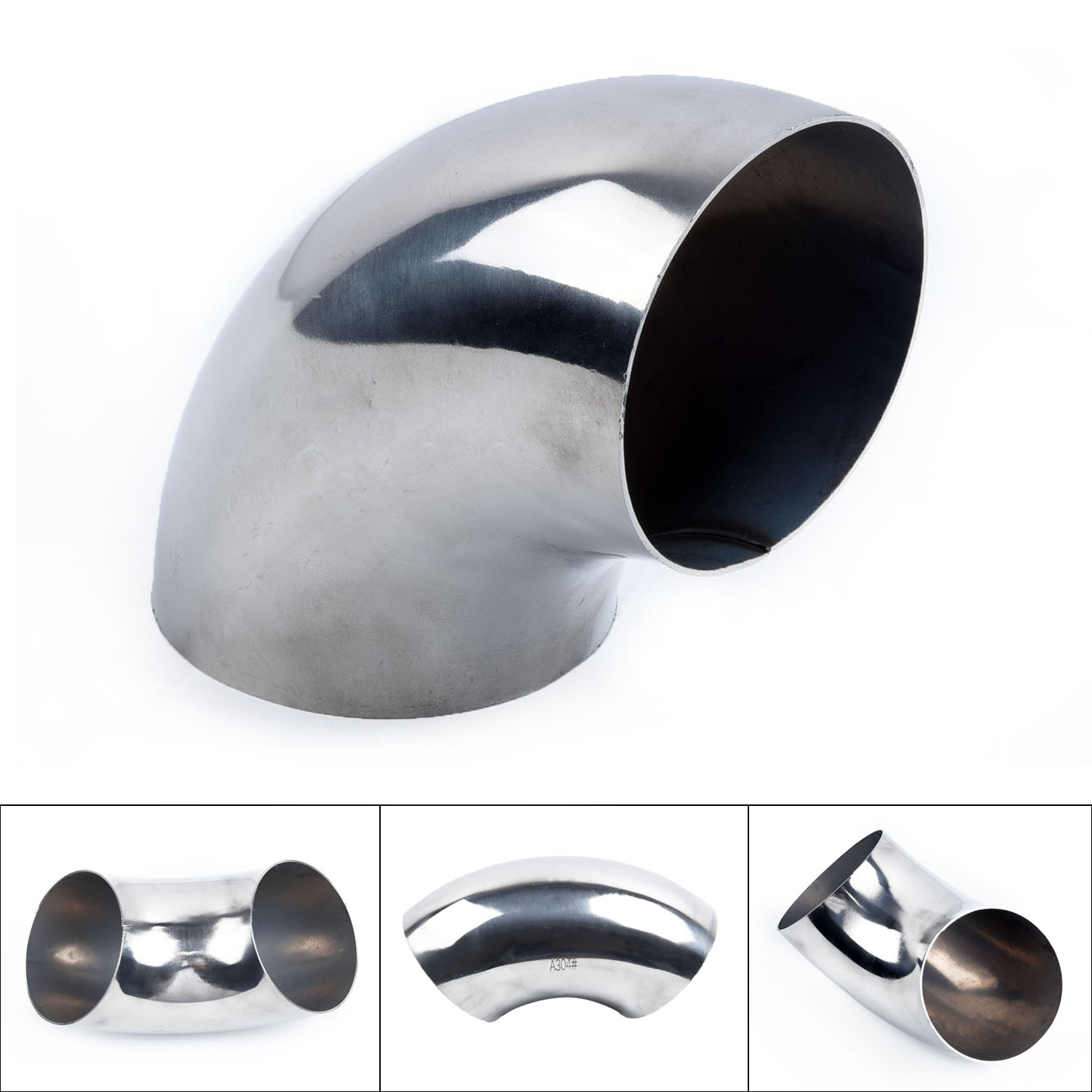 """3/""""inch//76mm OD Stainless Steel Car Exhaust Weld 90Bend Elbow Pipe Fitting Tools"""