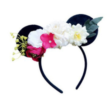 5pcs Mouse Ears Hair Bands Hoop Rose flower Hairband Headbands Girls Hair Ornament Headdress Fashion Hair Accessories For Women(China)