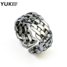 Free shipping,925 silver ring male/female personality knitted pinky ring girls/boys accessories thai silver openings,free size