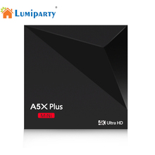 Lumiparty A5X Plus MiNi Android 7.1 Smart TV Box RK3328 Quad-Core 1GB+8GB 2.4G Wifi HDR10 4K HD Set Top Box Network movie Player