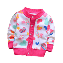 BibiCola 2016 spring autumn baby girls/boys candy color cardigan sweater children add velvet underwear jersey kids Knitting coat(China)
