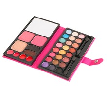 High Quality 33 Color Eyeshadow Palette Cosmetic Makeup Eye Shadow Palette Maquillage Symphony Shimmer Box Lip Glos Make Up Set(China)