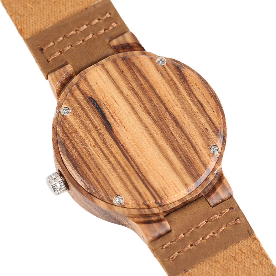 Top Gift Rhombus Dial Women Watch Creative Light Bamboo Wood Wristwatch Fashion Casual Clock Female Genuine Leather Ulzzang 2017 Christmas Gifts (5)