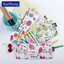 Buy 1 PC Fresh Style Fruits PU Leather Pencil Case Stationery Storage Organizer Bag School Office Supply Escolar for $1.34 in AliExpress store