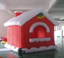 free shipping new inflatable Christmas santa clause  arch house  for Christmas day decoration