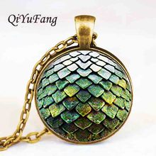 QiYuFang jewelry Steampunk glass Game of Thrones Dragon Egg Pendant Necklace doctor who 1pcs/lot men toy vintage 2017 hot charms
