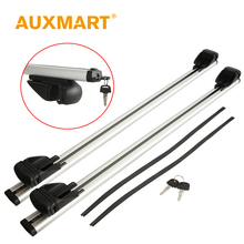Auxmart Car Roof Rack Cross Bar 120cm Universal for Auto SUV Offroad with Anti-theft Lock Load 75kg 165LBS Cargo Luggage Outdoor
