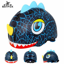 BATFOX Kids Cartoon Cycling Helmet Road Bike EPS+PC Helmet 3~8 Years Child Skating Bicycle Safe Anti-Collision Helmet(China)