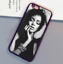 Fashion Popular Rihanna Printed Soft Rubber Skin Mobile Phone Case For iPhone 6 6S Plus 7 7 Plus 5 5S 5C SE 4S Back Cover Shell
