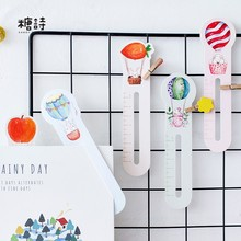 30pcs/pack Cartoon Animal in Balloon Bookmark Paper Bookmarkers Promotional Gift Stationery Film Bookmarks For Books(China)