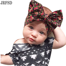 JRFSD 1PC Cute New Printing Flower Headband Bow Headband 100%Cotton Hair Band Elastic HairBands Kids Hair Accessories KT038(China)