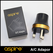 Original Aspire A/C Adaptor UK E Cig Wall Charger Black Aspire A/C Adaptor with UK Plug Adapter E-Cigarette accessories