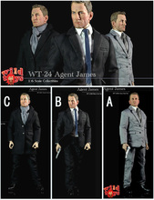 "Wild Toys WT-24 1/6 James Bond Agent 007 Daniel Craig 1/6 Agent James Suit Set 12"" Collectible Action Figure"