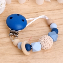Buy Baby Silicone Teething Dummy Pacifier Clip Bead Infant Soother Nipple Strap Chain for $2.26 in AliExpress store