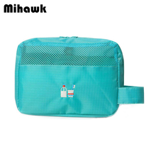 Mesh Women's Wash Pouch Handle Cosmetic Bag Travel Makeup Case Toiletry Tools Storage Organizer Accessories Supplies Products(China)