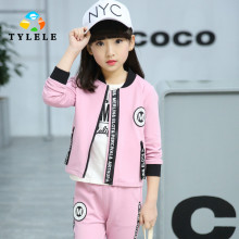 Girls Clothes 2017 Spring Clothing Sets Print Baseball Sport Suit Children Kids Tracksuit + Pants 14 Year - ShenZhen Hope Technology Co., Ltd. store