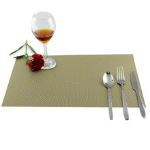 Kitchen  PVC Placemat Table Waterproof Heat Insulation Tableware Cup Mat Weave Slip-resistant Pad  E2S