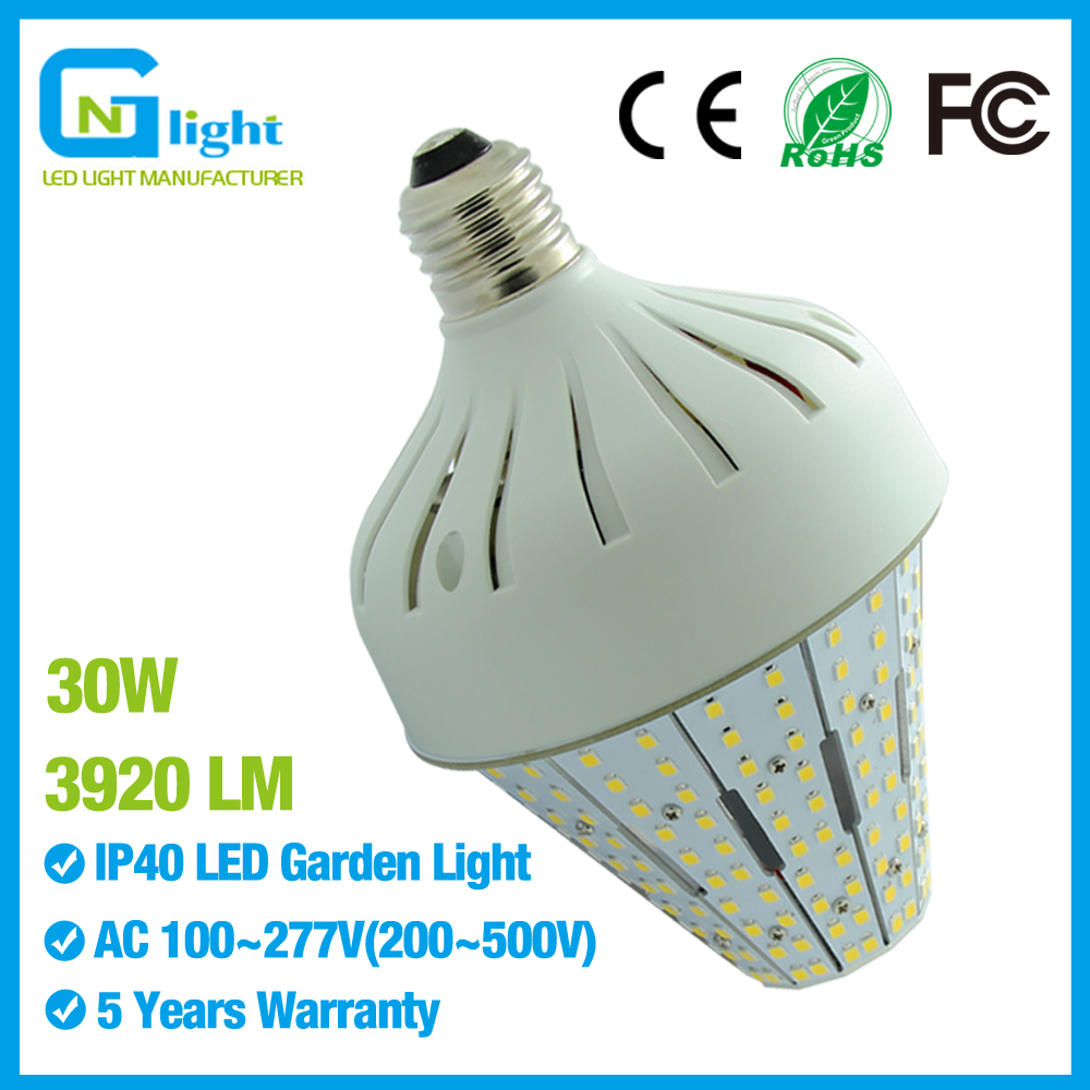 30 Watt Medium Base E26 Led Corn Light Bulbs Post Top Acorn Led Stubby Lights for Street Area Lighting(China (Mainland))