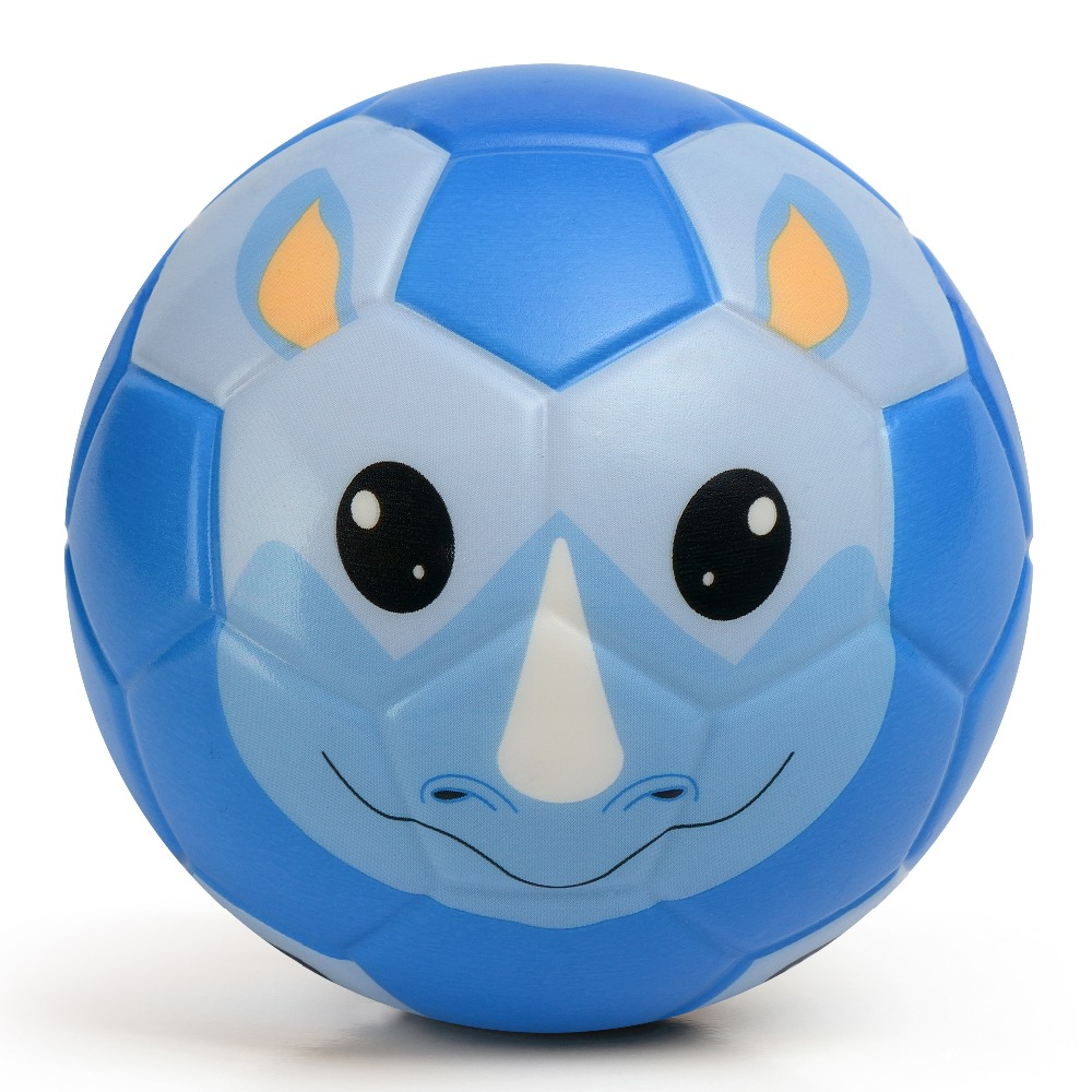 Chastep Printed Soccer Ball Seamless Football Ball Size 4 6 Inch 15cm High Quality PU Foam Materials Football for Children Kids(China)