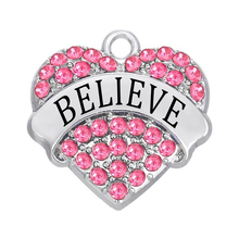 Rhodium Plated metal message charms for link bracelt or necklace making believe dream love charms jewelrymy teacher jewelry(China)