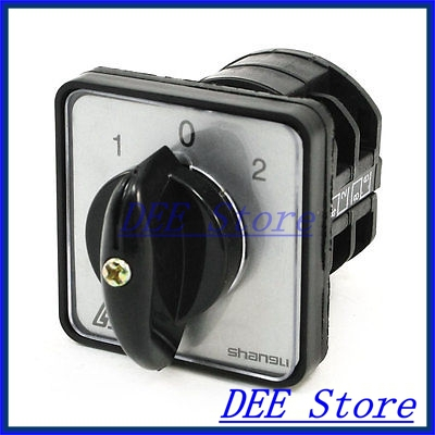 660V Ui 10A Ith 1-0-2 ON-OFF-ON Universal Rotary Cam Changeover Switch<br><br>Aliexpress
