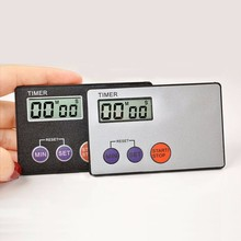 Pocket Credit Card Size Kitchen Timer Digital Countdown Cooking Timer Count Down Alarm Clock Kitchen Tools(China)
