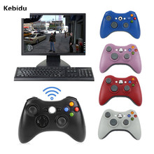 Kebidu Wireless Remote Controller Joystick For Xbox 360 Games Computer PC Receiver Gamepad For Microsoft with Windows XP/Vista