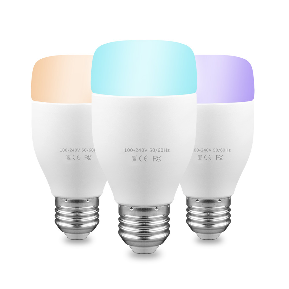 Top Quality Speaker 2.4GHz Wi-Fi LED RGB Light Music Bulb Lamp Colors Changing via WiFi App Control mp3 player Wireless Bulb<br>