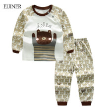 Baby Boy Clothes Summer 2016 Newborn Baby Boys Clothes Set Cotton Baby Clothing Suit (Shirt+Pants) Plaid Infant Clothes Set(China)