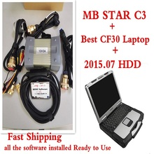 Top rated 2015.07v Newly Version MB Star C3 Software HDD for Mercedes For b-enz Diagnosis Tools with LAPTOP CF30 DHL Free Ship(China)