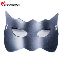 Buy Morease Sexy Eye Mask Blindfold Bondage PU Leather Fetish Slave Erotic Cosplay Adult Game Sex Toys Bdsm Product Women