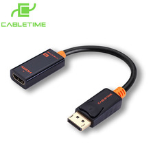 Cabletime DP To HDMI Male Female Converter 4k/2k Display Port To HDMI Adaptor Displayport hdmi 4kFor Macbook HDTV Projector N007