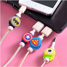 Kawaii Cartoon USB cable Earphones Protector.Cute Cover for iPhoneSE/5s 6/6s Android Cable Data Line Protection Sleeve