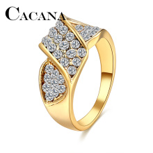 Buy CACANA Wedding Bands Rings Women Arc Bridge Metal Zinc Alloy Engagement Party Trendy Cubic Zirconia Gold-color Ring Jewelry for $1.00 in AliExpress store