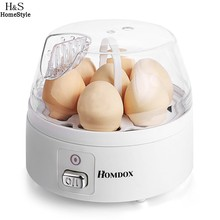 Homdox 7 Eggs Electric Egg Boiler Egg Cooker Multi-function with Water Level Indicator cooking tools White EU Plug N3030