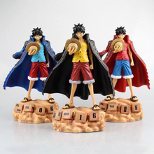 Good Quality PVC Assemble Eternal Calendar Luffy Action Figure Anime ONE PIECE Model Toy Boy Gift Collectibles red yellow blue